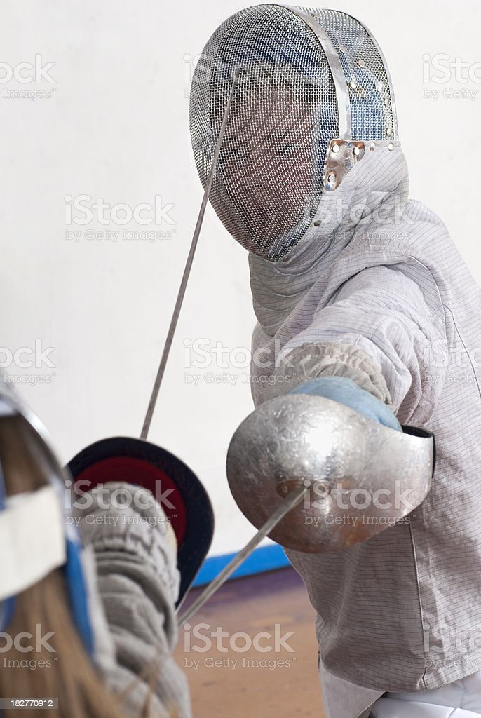 Young Fencers Bouting royalty-free stock photo