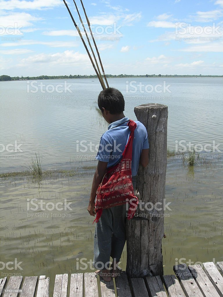 Young Fisherman stock photo
