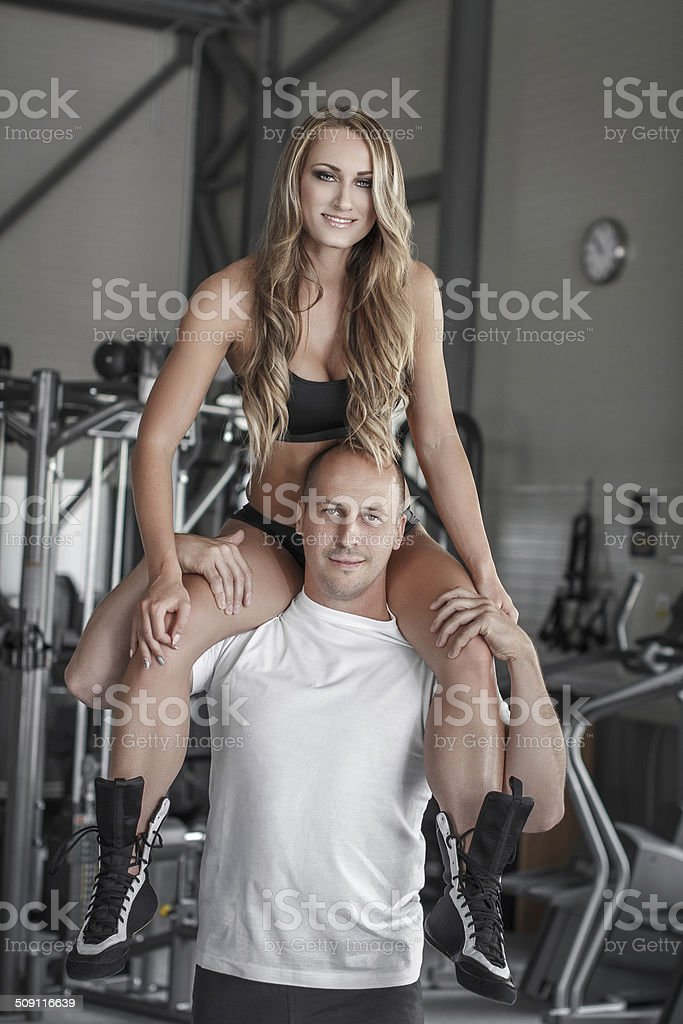 Young fit couple royalty-free stock photo