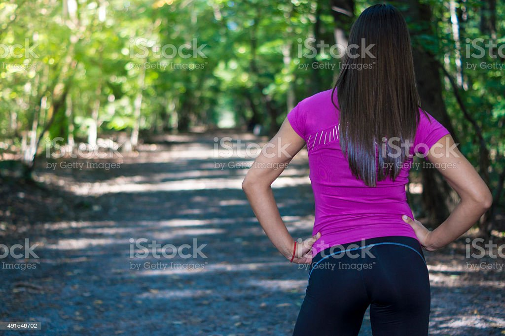 Young fit girl stock photo