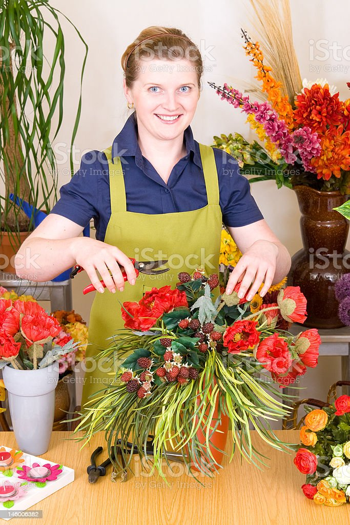 Young Florist royalty-free stock photo