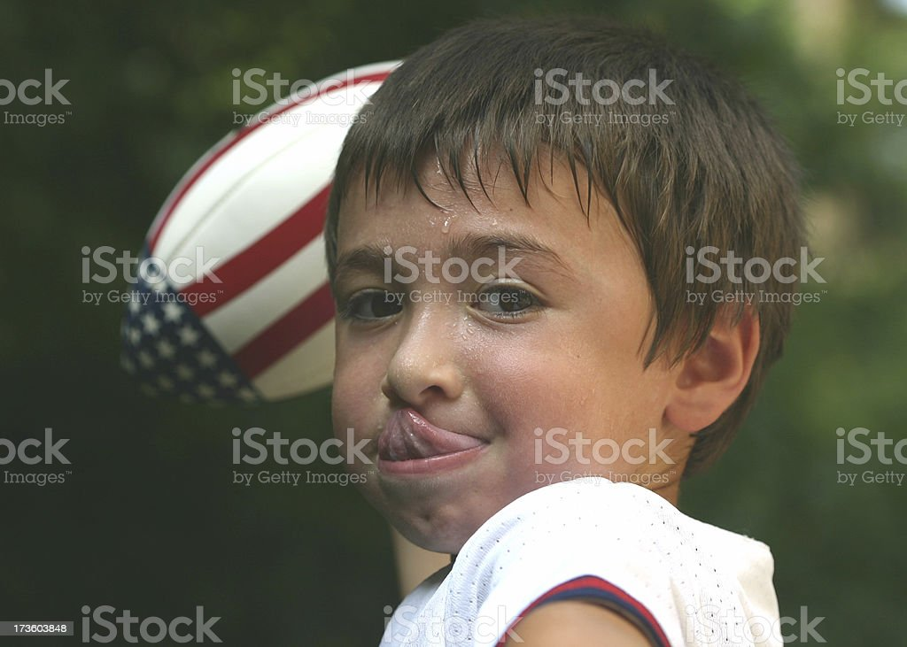 Young Football Boy royalty-free stock photo