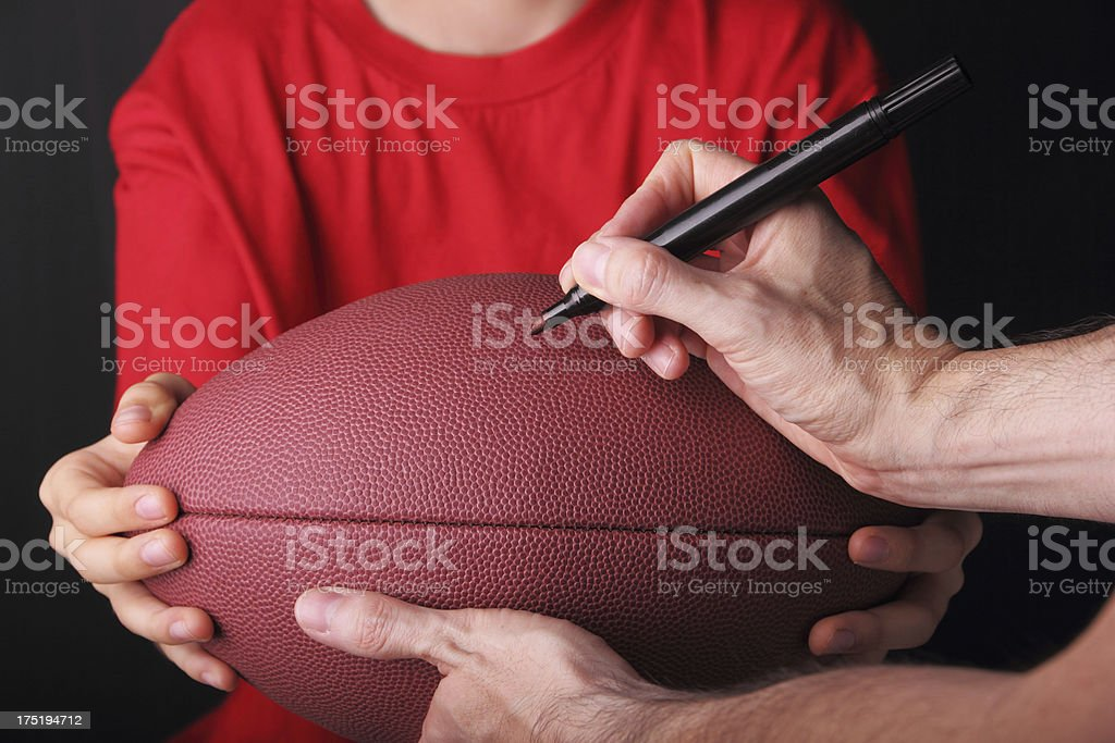 Young Football Fan stock photo