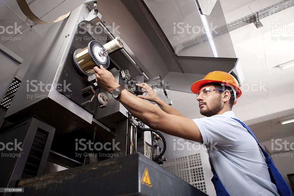 Young Foreman stock photo