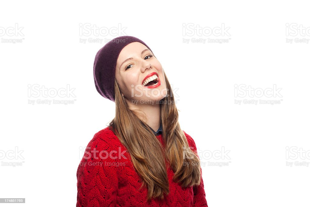 Young friendly woman royalty-free stock photo
