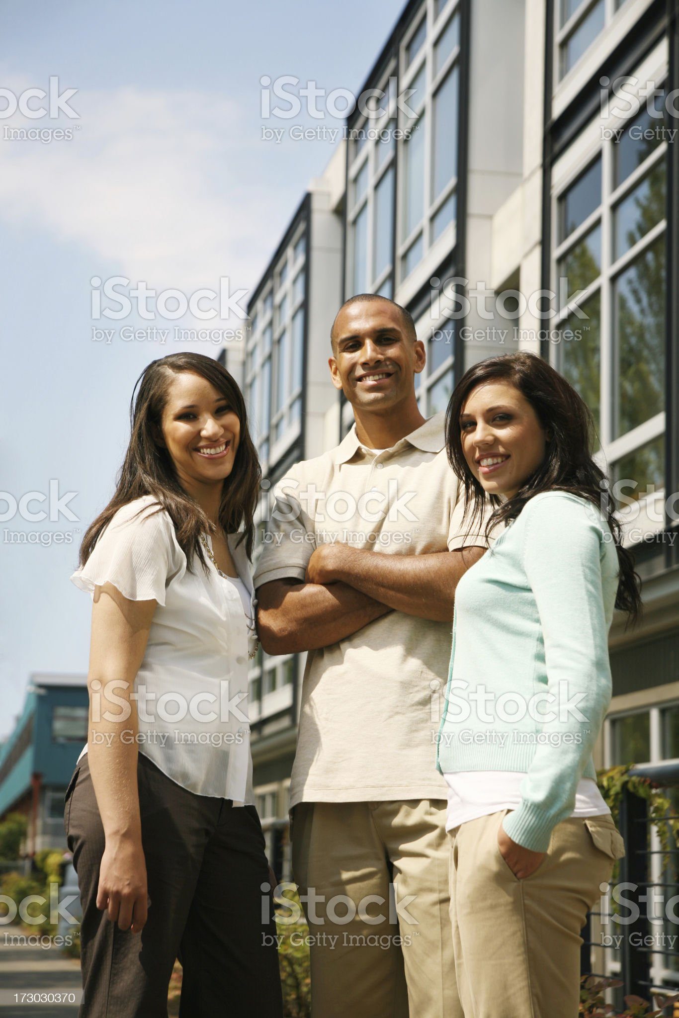 Young friends royalty-free stock photo