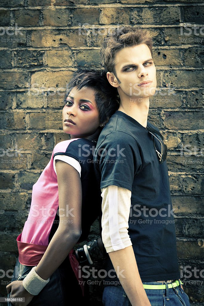 Young funky couple royalty-free stock photo