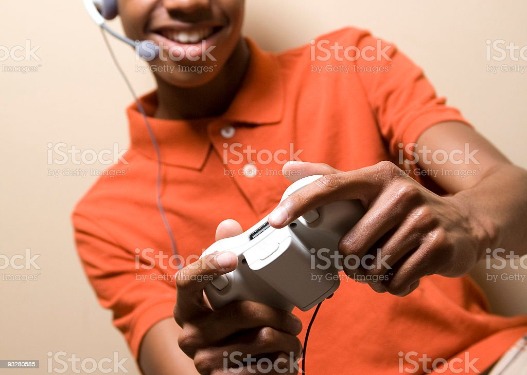 Young Gamer Gaming royalty-free stock photo