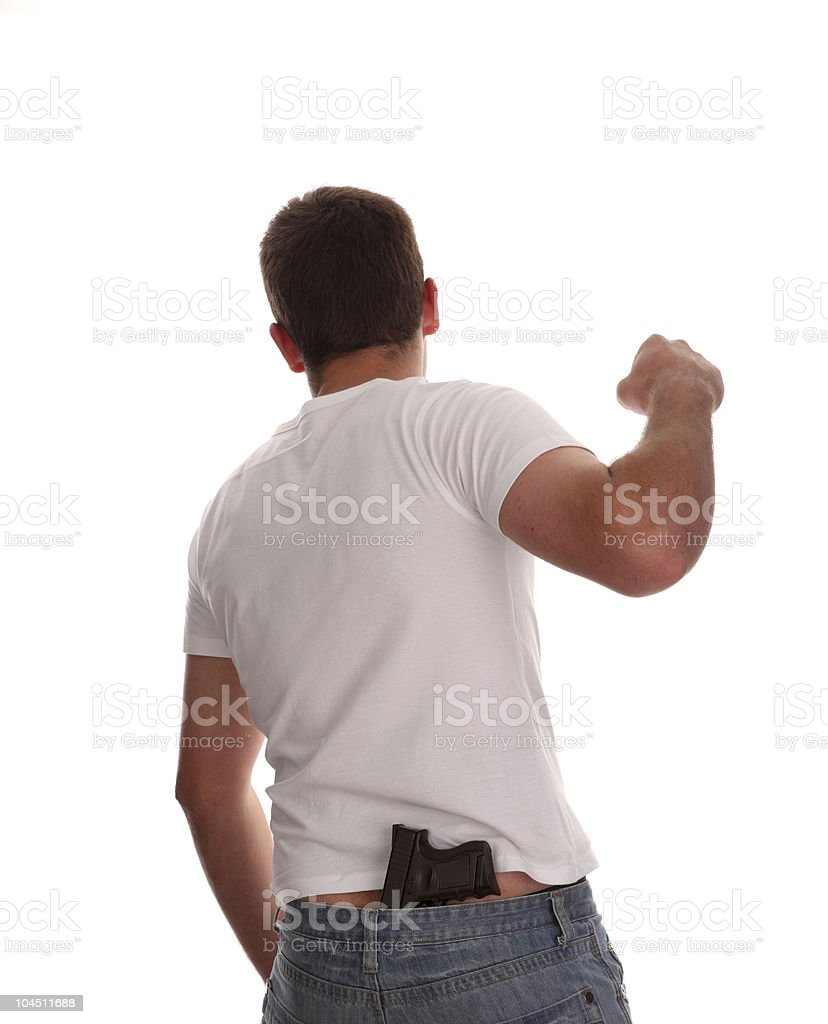 Young gang thug royalty-free stock photo