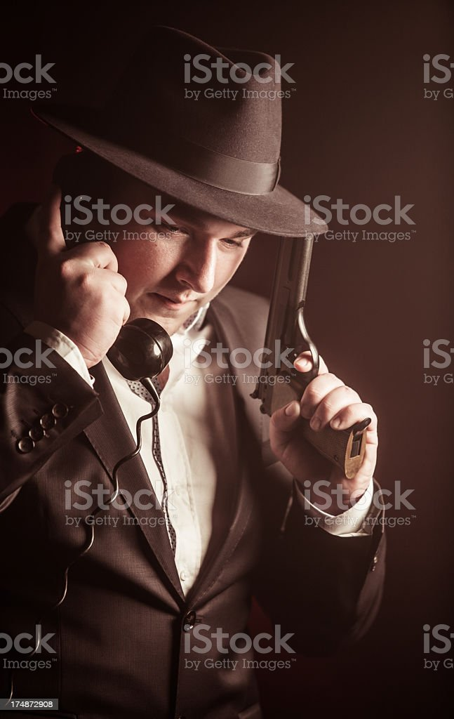 Young gangster royalty-free stock photo