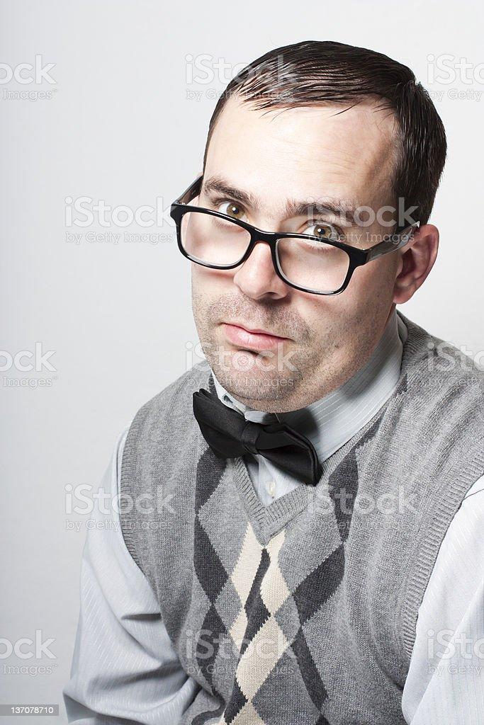 Young geek man royalty-free stock photo