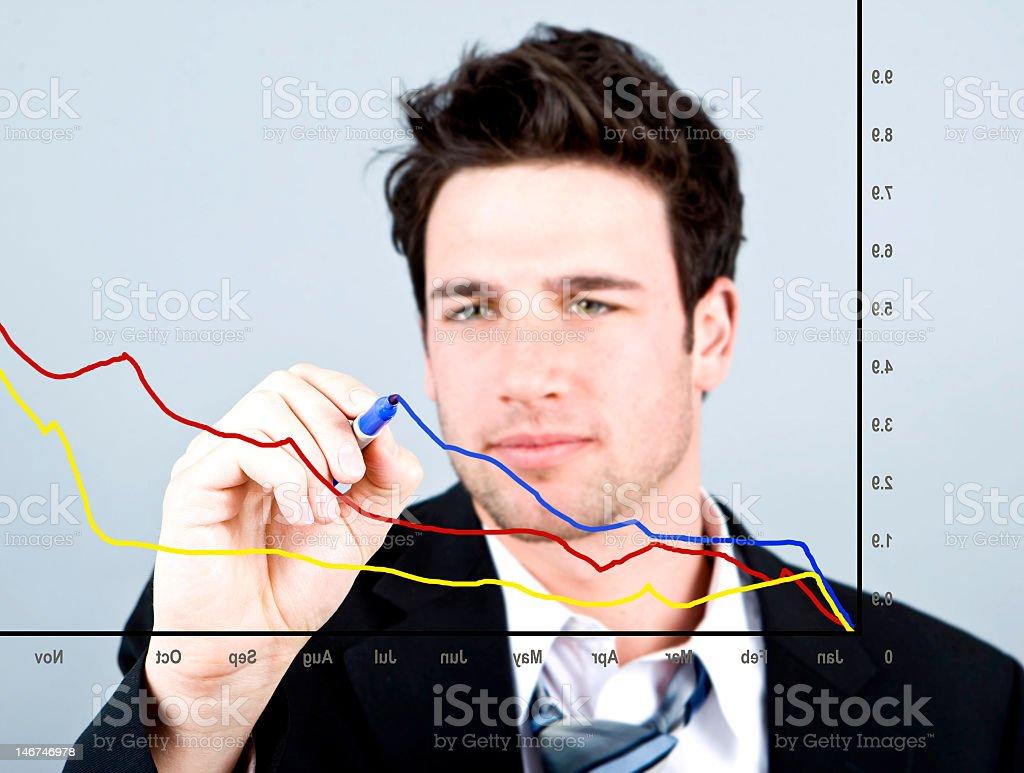 Diagrama de negocios foto de stock libre de derechos