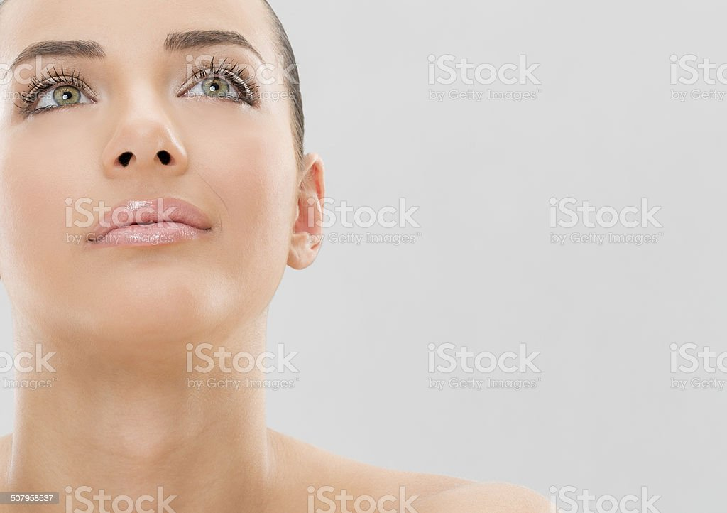 Young girl and beauty treatment stock photo