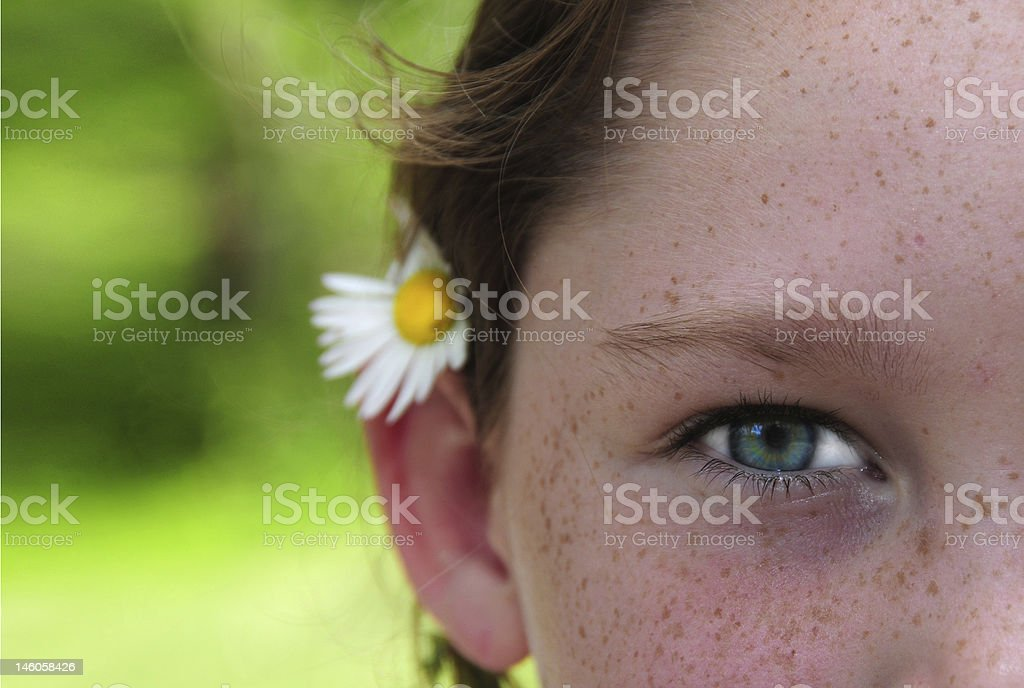 Young Girl and Flower royalty-free stock photo