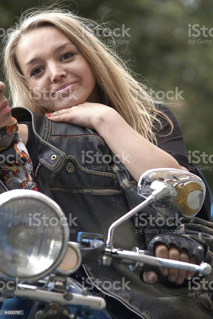 Young girl and guy royalty-free stock photo