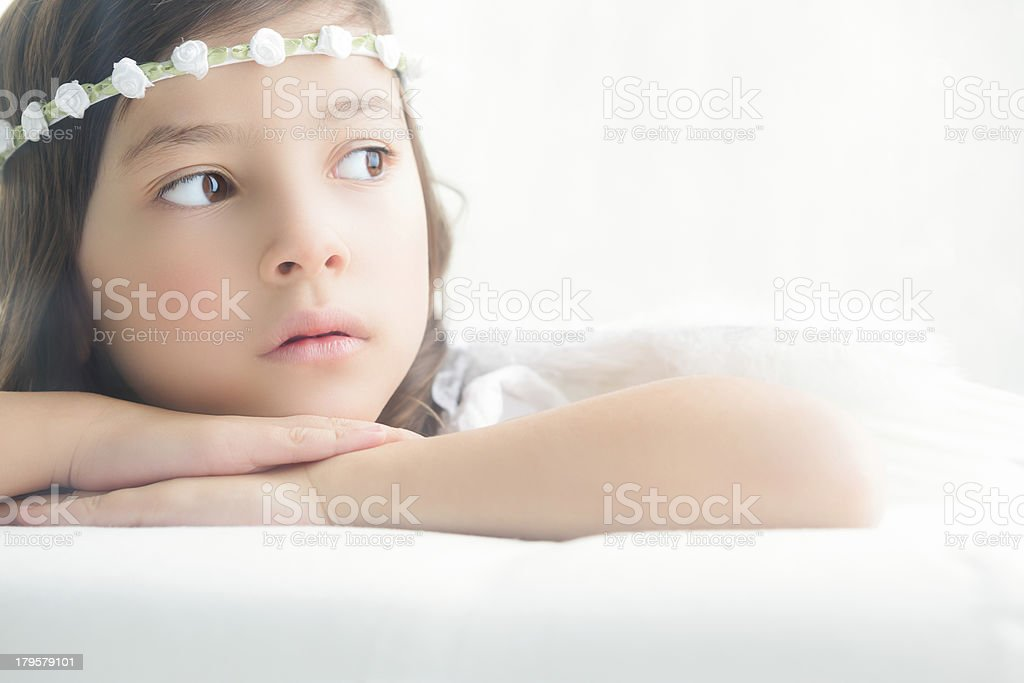 Young girl angel royalty-free stock photo