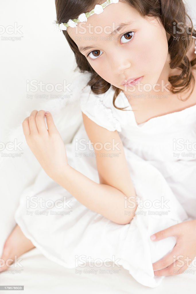 Young girl angel portrait royalty-free stock photo