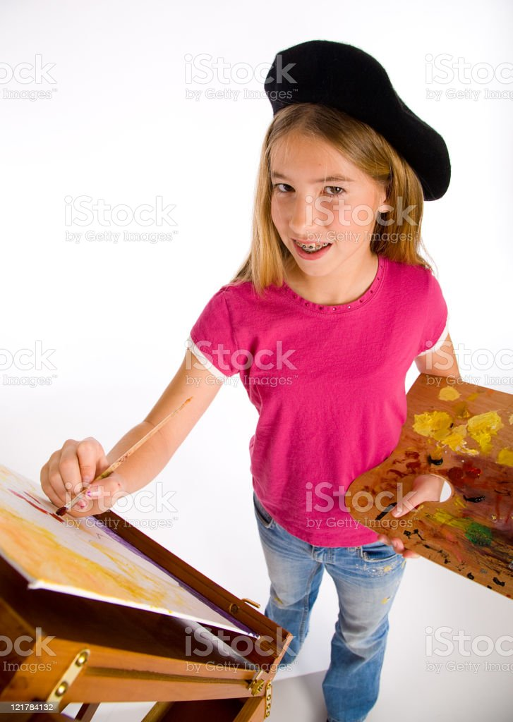 Young Girl Artist Series royalty-free stock photo