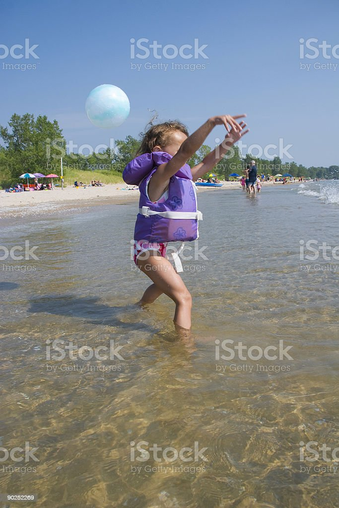 Young Girl at Beach royalty-free stock photo