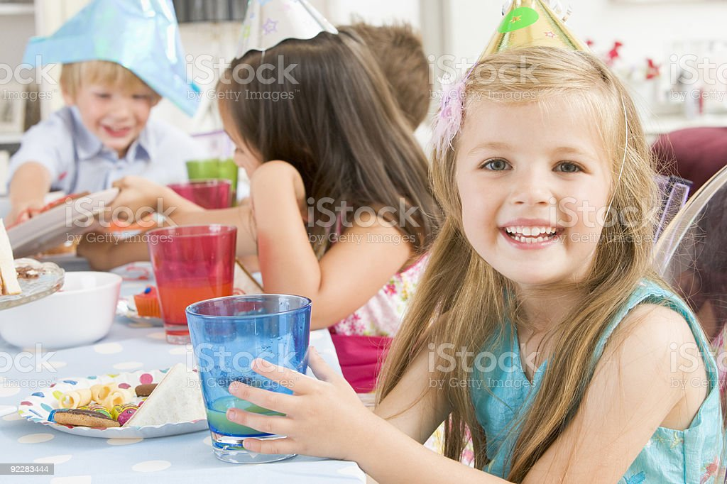 Young girl at party stock photo