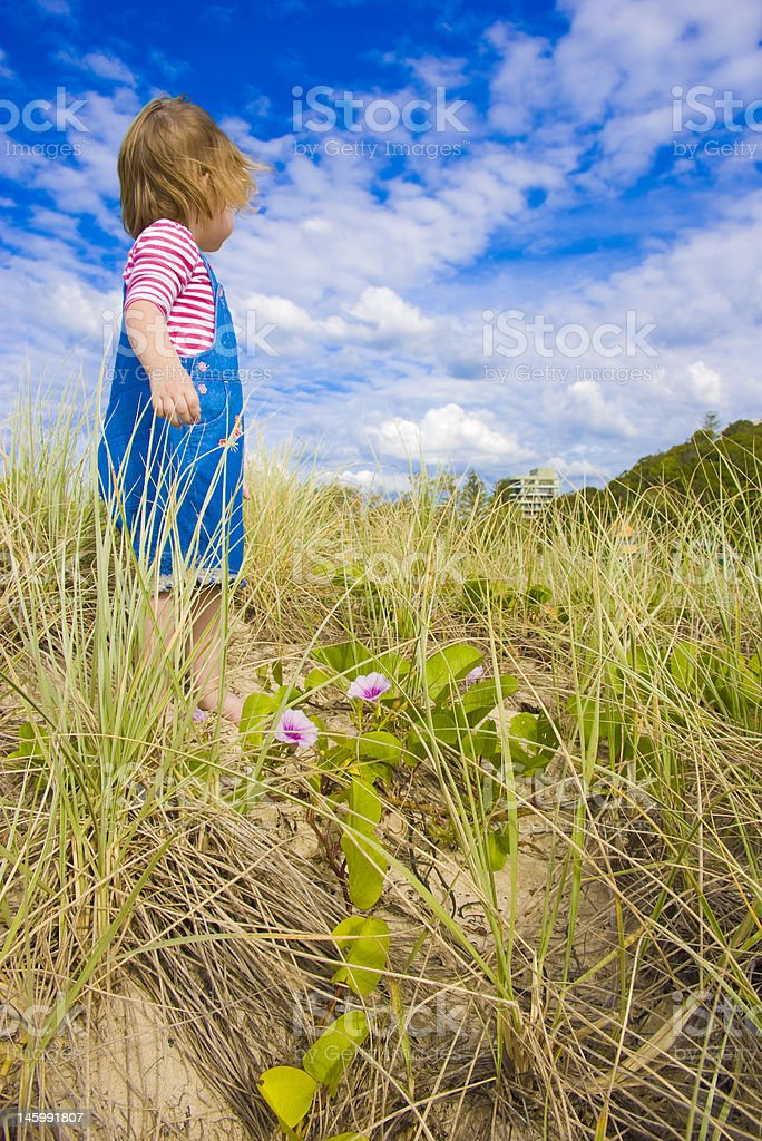 young girl at the beach royalty-free stock photo