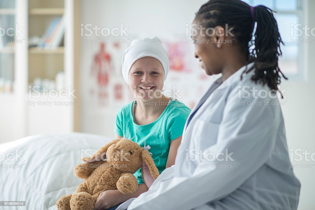 Young Girl at the Doctor's Office stock photo