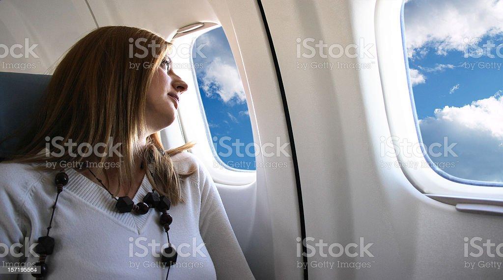 Young girl at Vacation Holiday Flight royalty-free stock photo