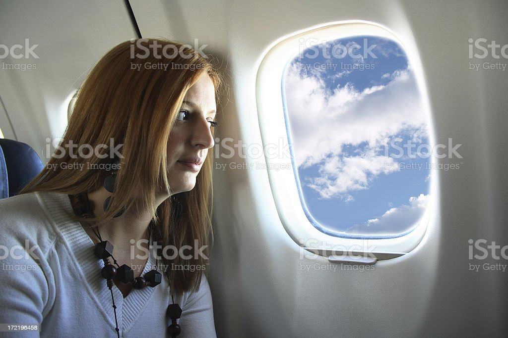Young girl at Vacation Holiday Flight royalty-free stock photo
