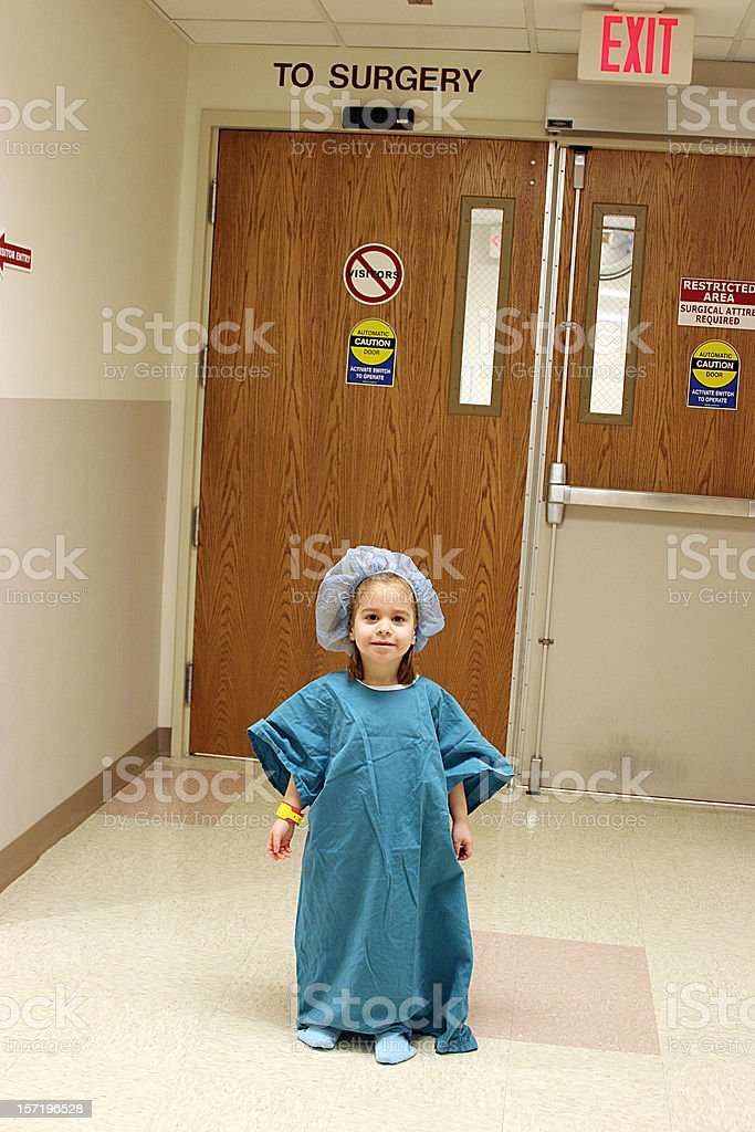 Young Girl Before Surgery stock photo