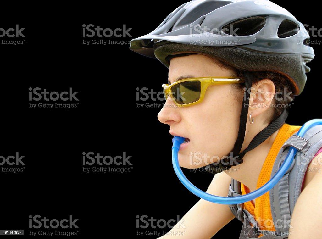 Jovem Menina a Andar de Bicicleta foto de stock royalty-free