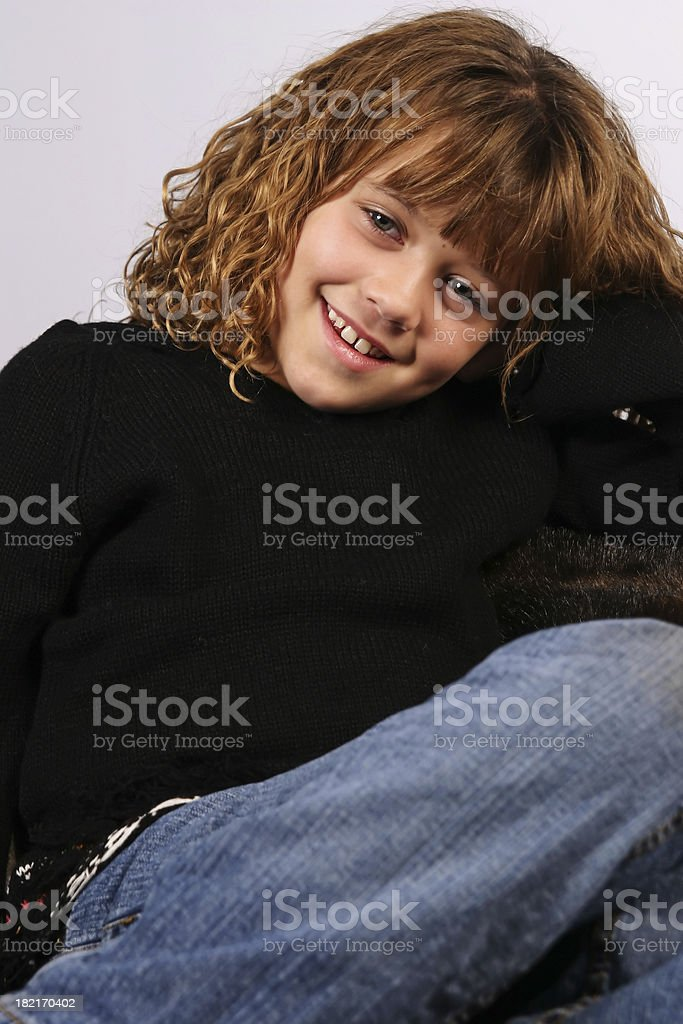 Young Girl Casual royalty-free stock photo