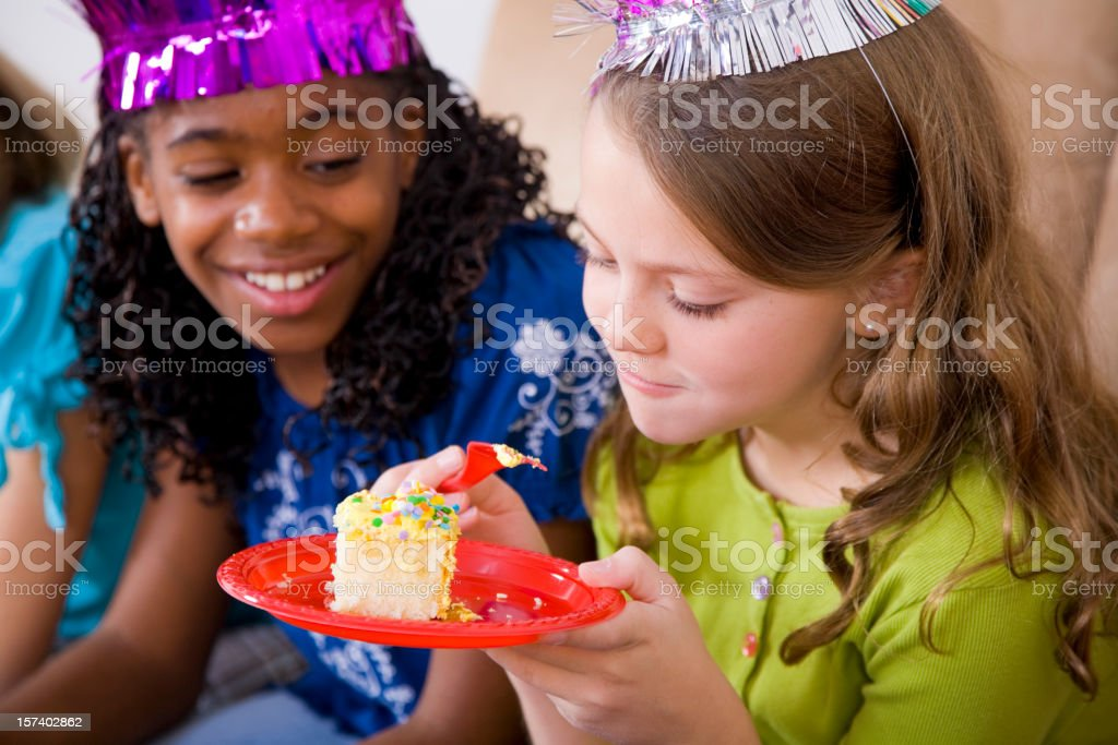 Young Girl Celebrating a Birthday Party royalty-free stock photo