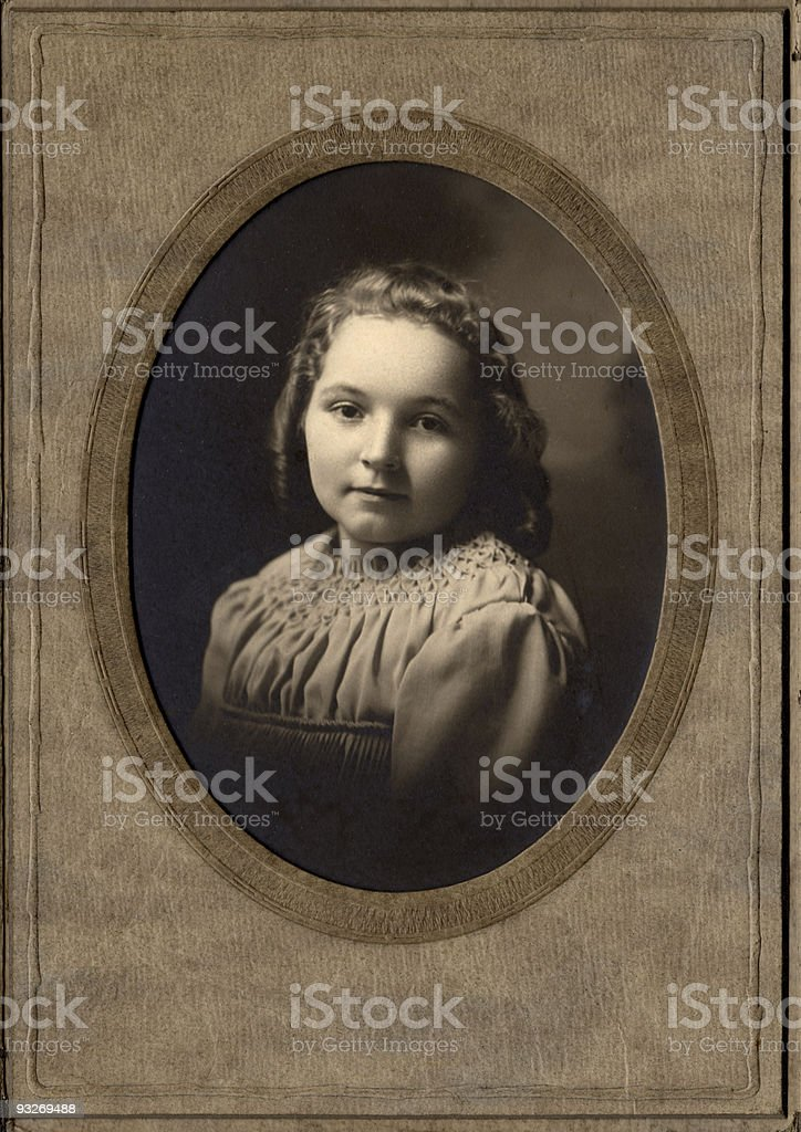 Young girl, circa 1910 royalty-free stock photo