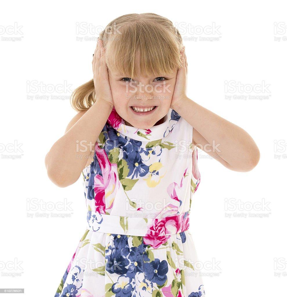 Jeune fille couverts photo libre de droits