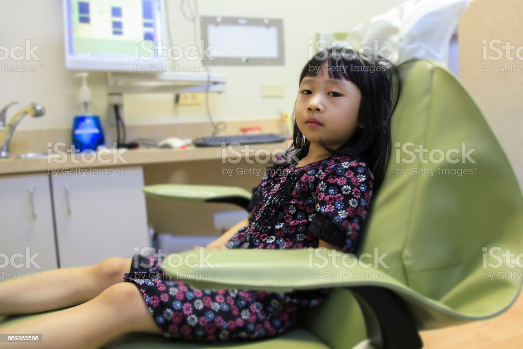 Young Girl Dentist Visit stock photo
