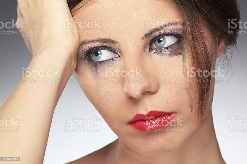 Young girl depression royalty-free stock photo