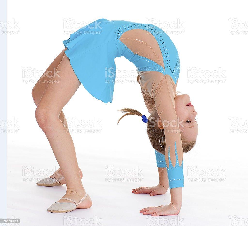 Jeune fille faire gymnastique photo libre de droits