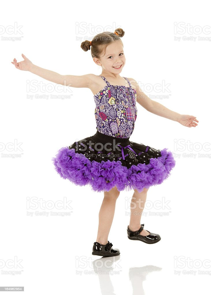 Young girl dressed as a ballerina stock photo