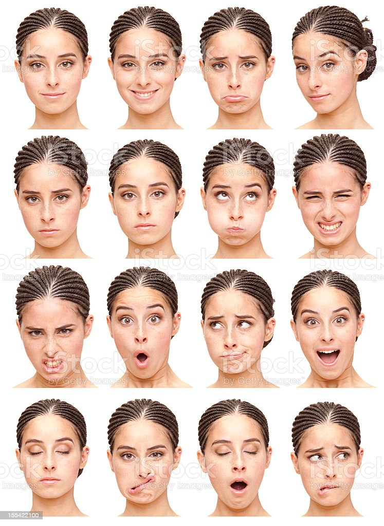Girls facial expressions