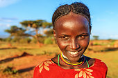 Young girl from Borana, Ethiopia, Africa