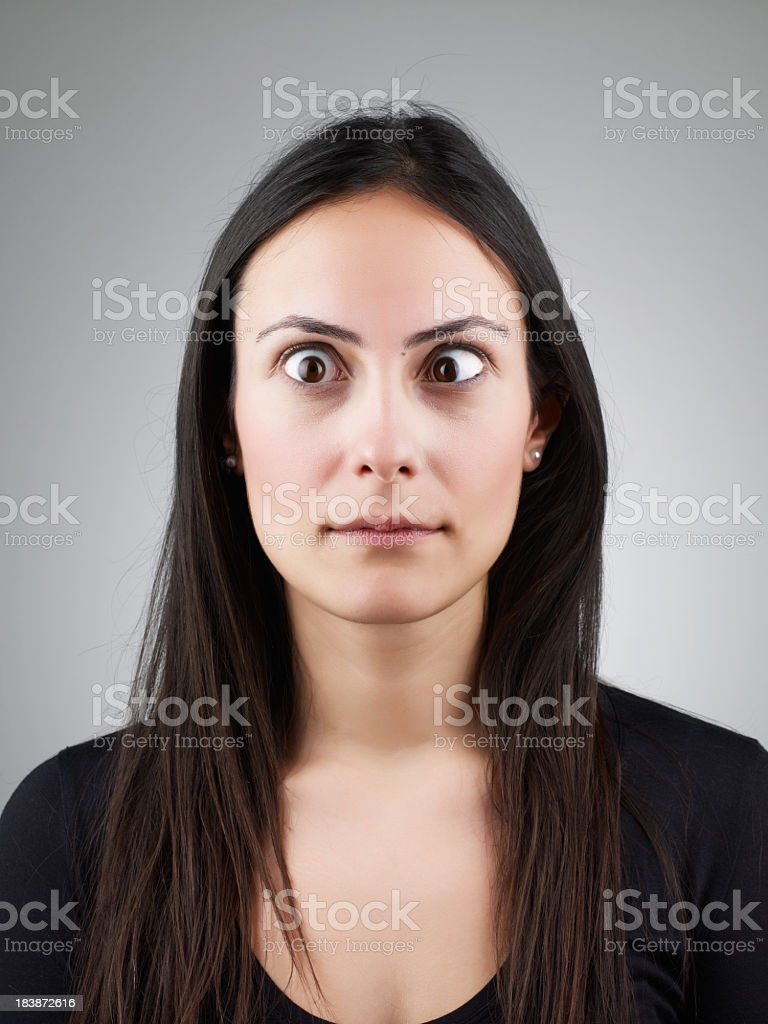 Young Girl going crazy stock photo
