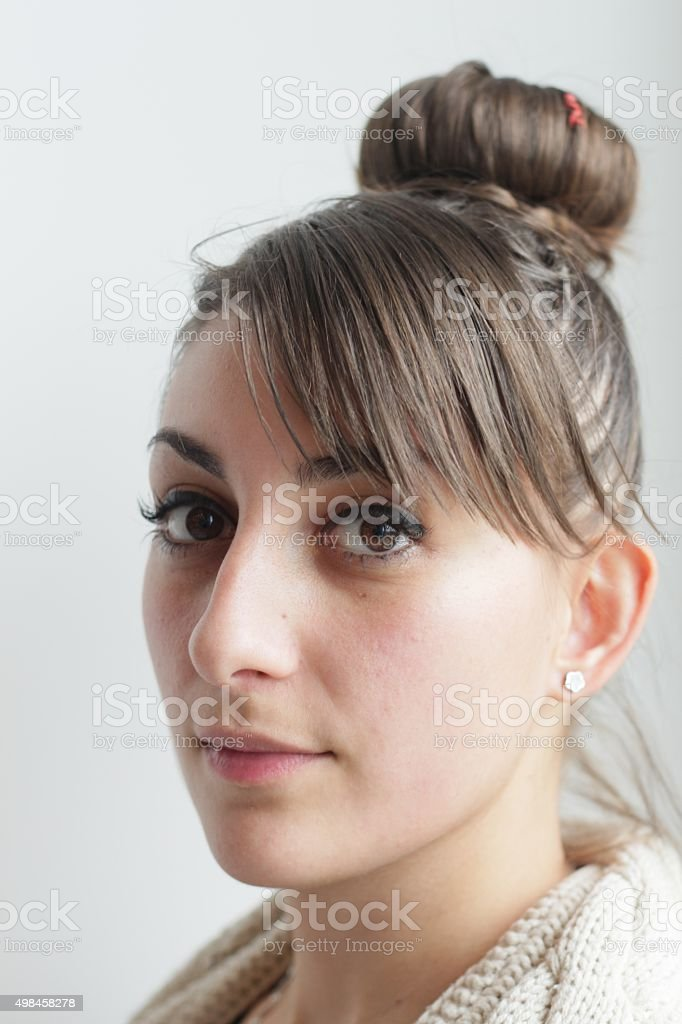 Young Girl Hairstyle stock photo