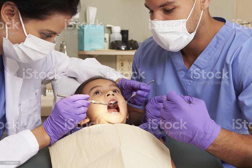Young Girl Having Check Up At Dentist royalty-free stock photo