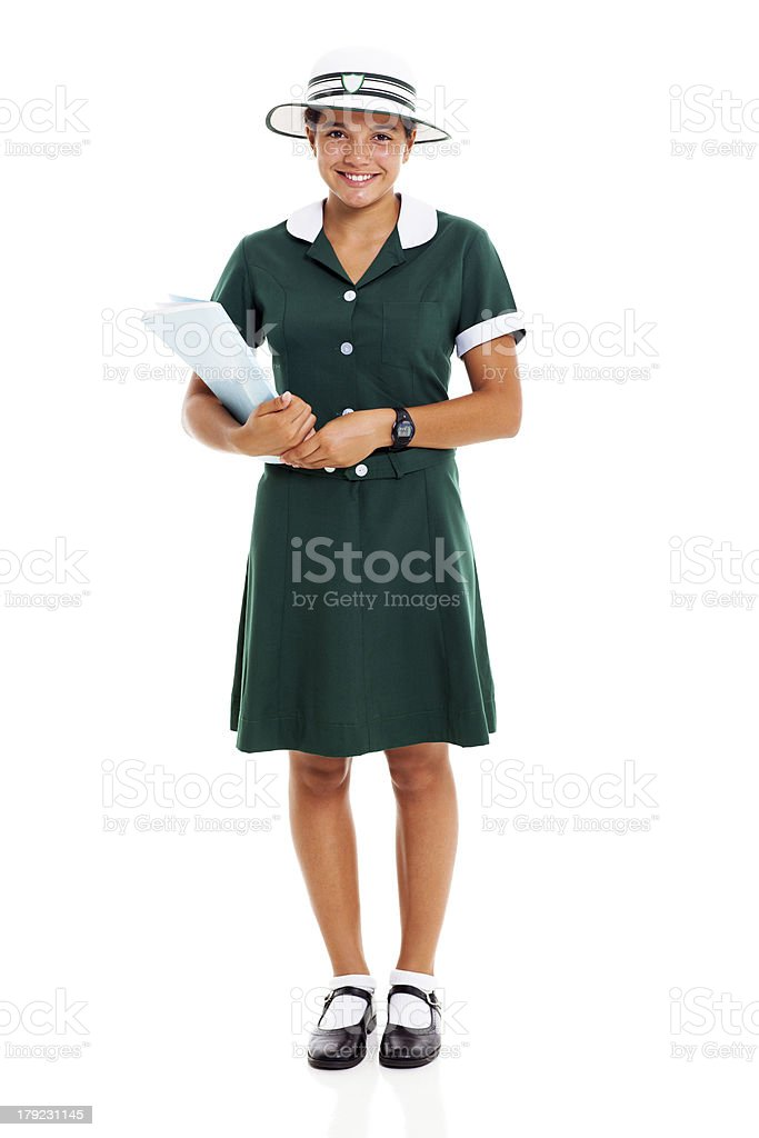 young girl holding a book royalty-free stock photo