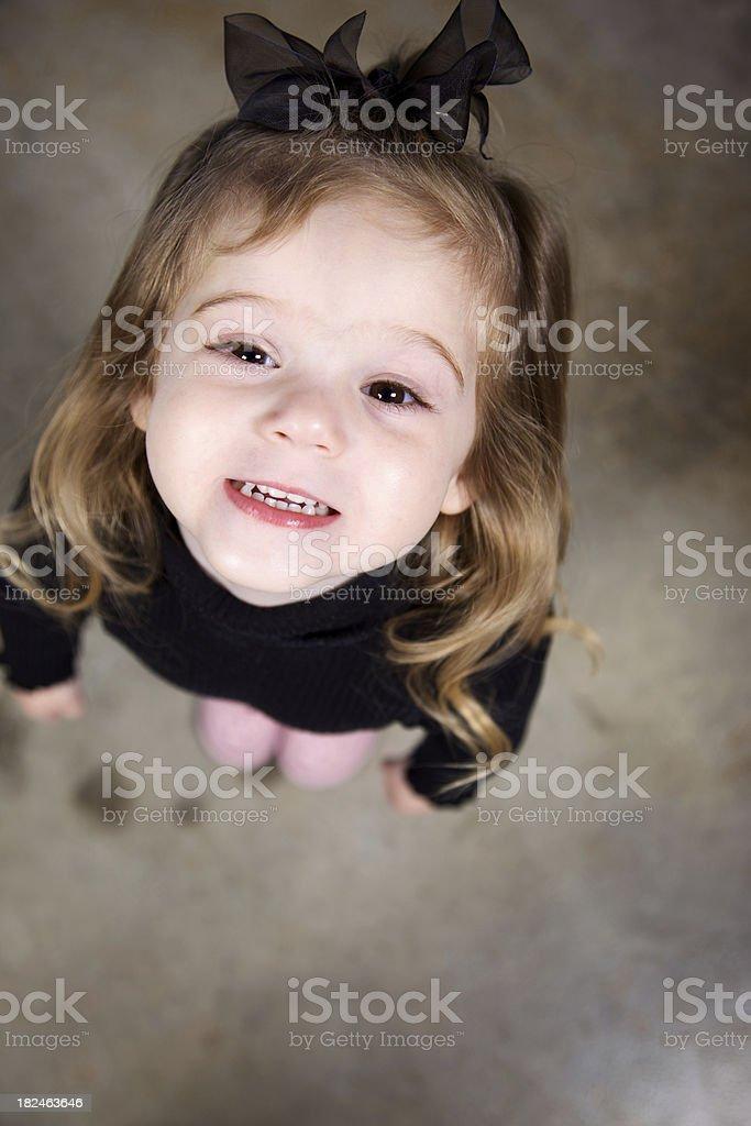 young girl holiday fun royalty-free stock photo