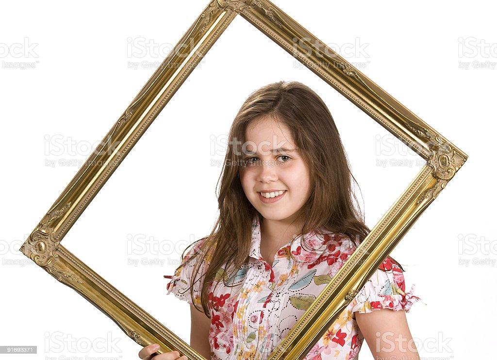 Молодая девушка в оправе Стоковые фото Стоковая фотография