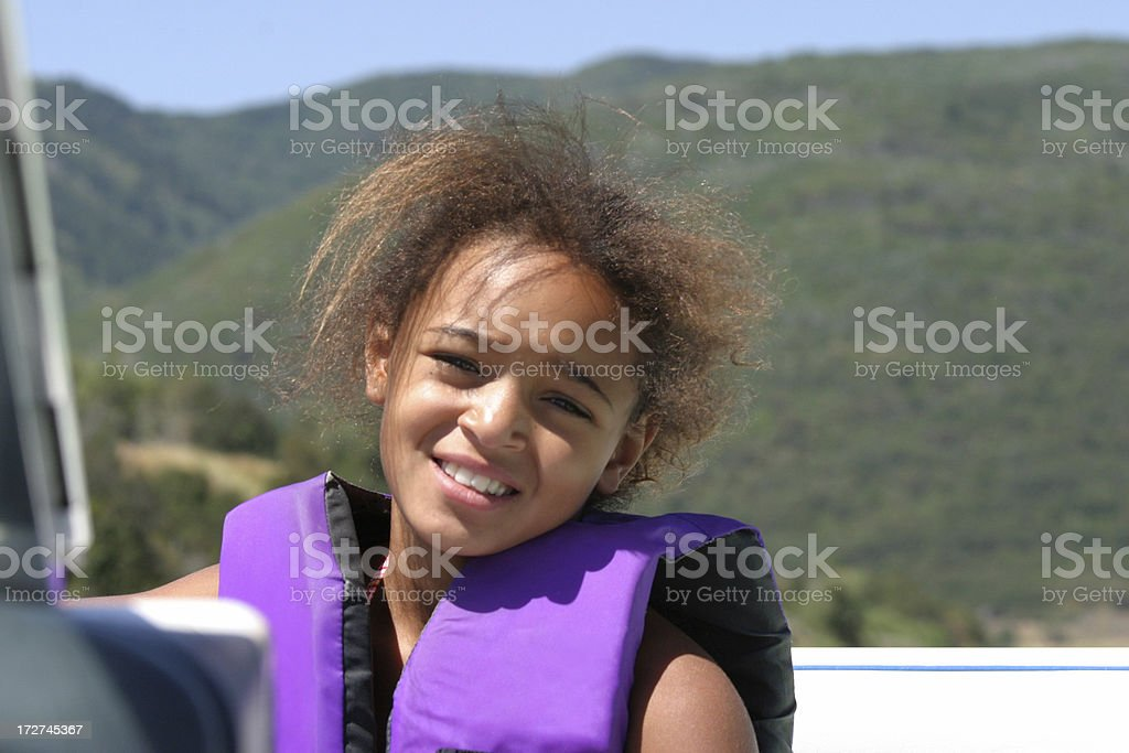Young Girl in Boat royalty-free stock photo