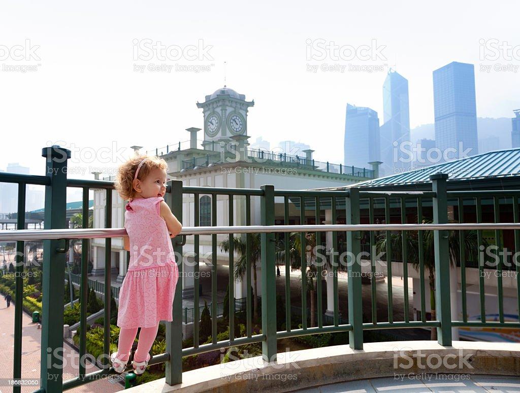 Young girl in HongKong royalty-free stock photo