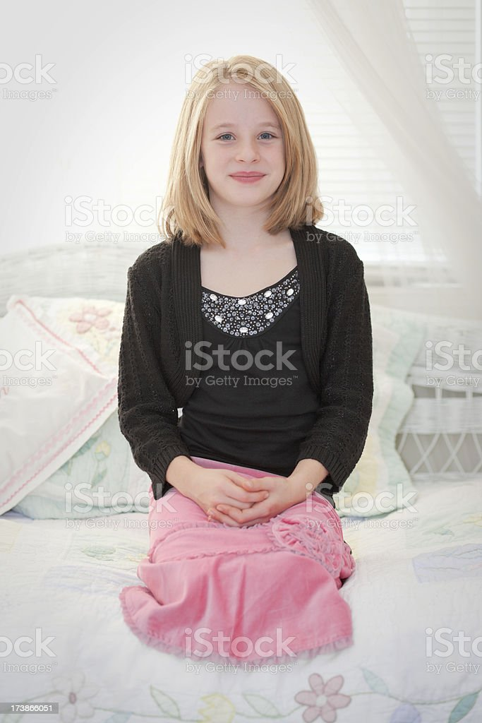 Young girl in pink (XXL) royalty-free stock photo