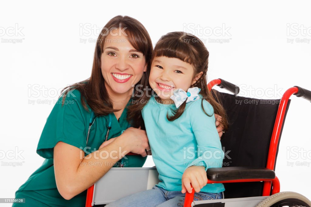 Young Girl in Wheelchair royalty-free stock photo